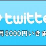 Twitterを利用して月5000円を放置で稼ぐ手法
